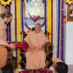 Gaura-Gopala Dasa Offering the Vyasa Puja Book to Guru Maharaja