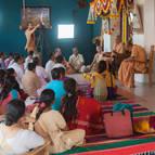 Devotees Hearing from Guru Maharaja