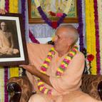 Guru Maharaja with a Picture of Sarasvati Thakura