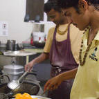 Meanwhile, in the Kitchen, Stayraja and Rasikananda Cook...