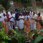 Devotees at Govardhana Hill