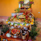 The altar on the day of Govardhana Puja