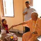 Alejandra is initiated as Yogamaya Devi Dasi