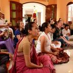 Devotees in bhajana