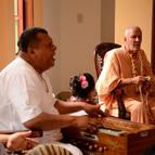 Janardana leading bhajanas