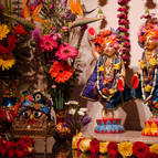 Gaura-Nitai on Their new altar