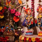 Gaura-Nitai on Their new altar