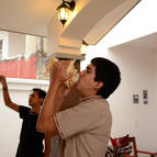 Ekanatha Dasa blowing the conch
