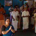 Kirtana in front of the Deities