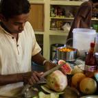 Kunja-vihari in the kitchen