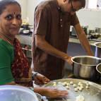 Prema Manjari cooking.