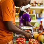 Rupanuga making Water melon cake