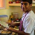 Syama-kunda in the kitchen