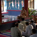 Giri Maharaja leading bhajans