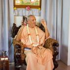 Guru Maharaja with the new Brahma-samhita in Kannada
