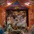 The Altar at Radha-Damodara Temple on Maha Rasa Purnima