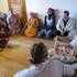 Guru Maharaja speaking hari-katha in Dolna Suca, Slovakia