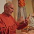 Guru Maharaja speaking to guests in Stramberk with Tattva-darsi translating.
